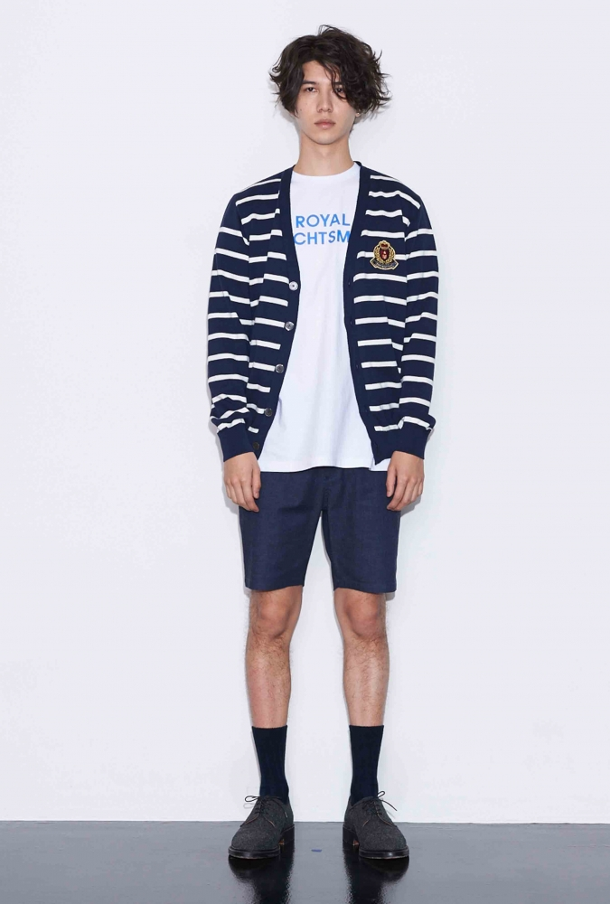 [80% OFF]STRIPE KNIT CARDIGAN(NAVY)
