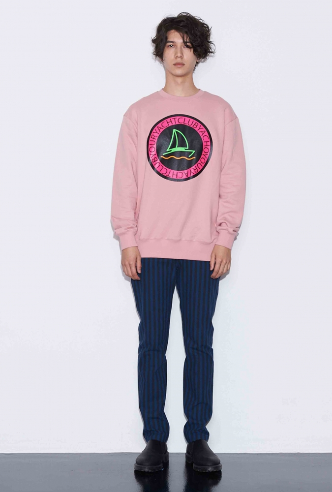 [80% OFF]YACHT PRINTED SWEATSHIRT(PINK)