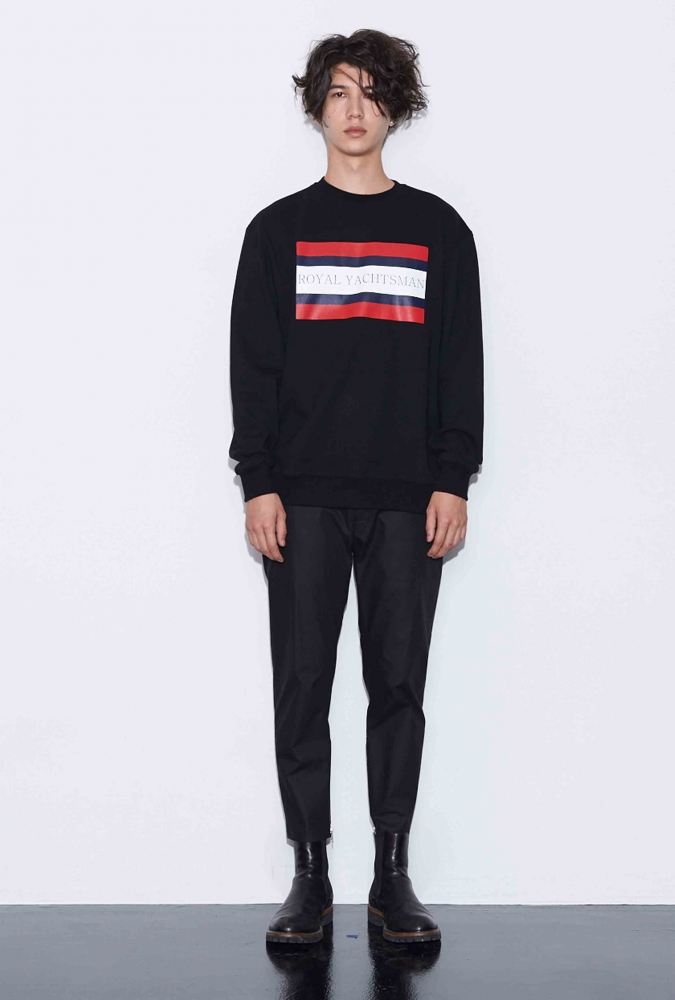 [80% OFF]ROYAL YACHTSMAN PRINTED SWEATSHIRT(BLACK)
