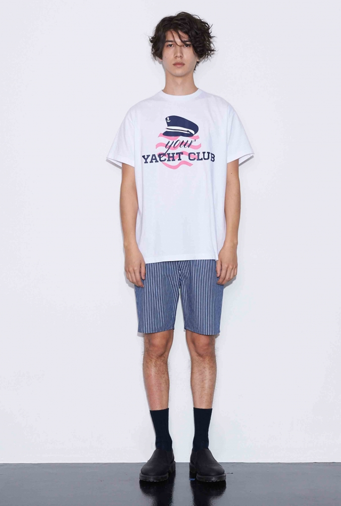 SAILER HAT PRINTED T-SHIRT(WHITE)