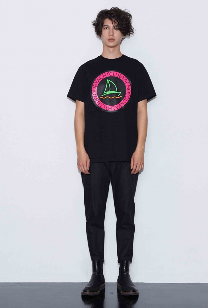 YACHT PRINTED T-SHIRT(BLACK)