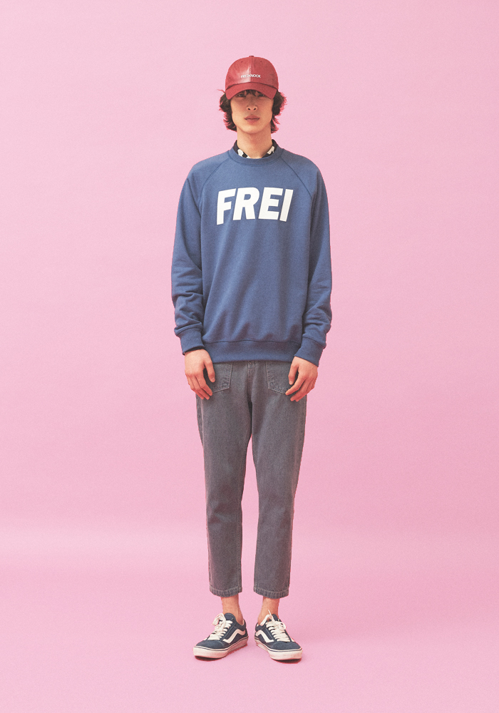 [70% OFF]BIG LOGO SWEATSHIRT(BLUE)