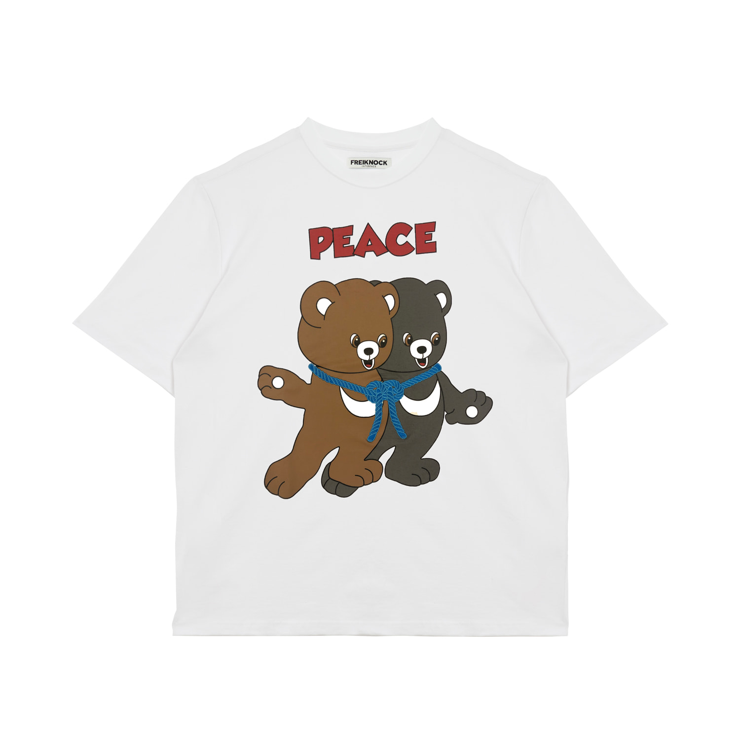 [40% OFF]PEACE BEAR T-SHIRT(WHITE)