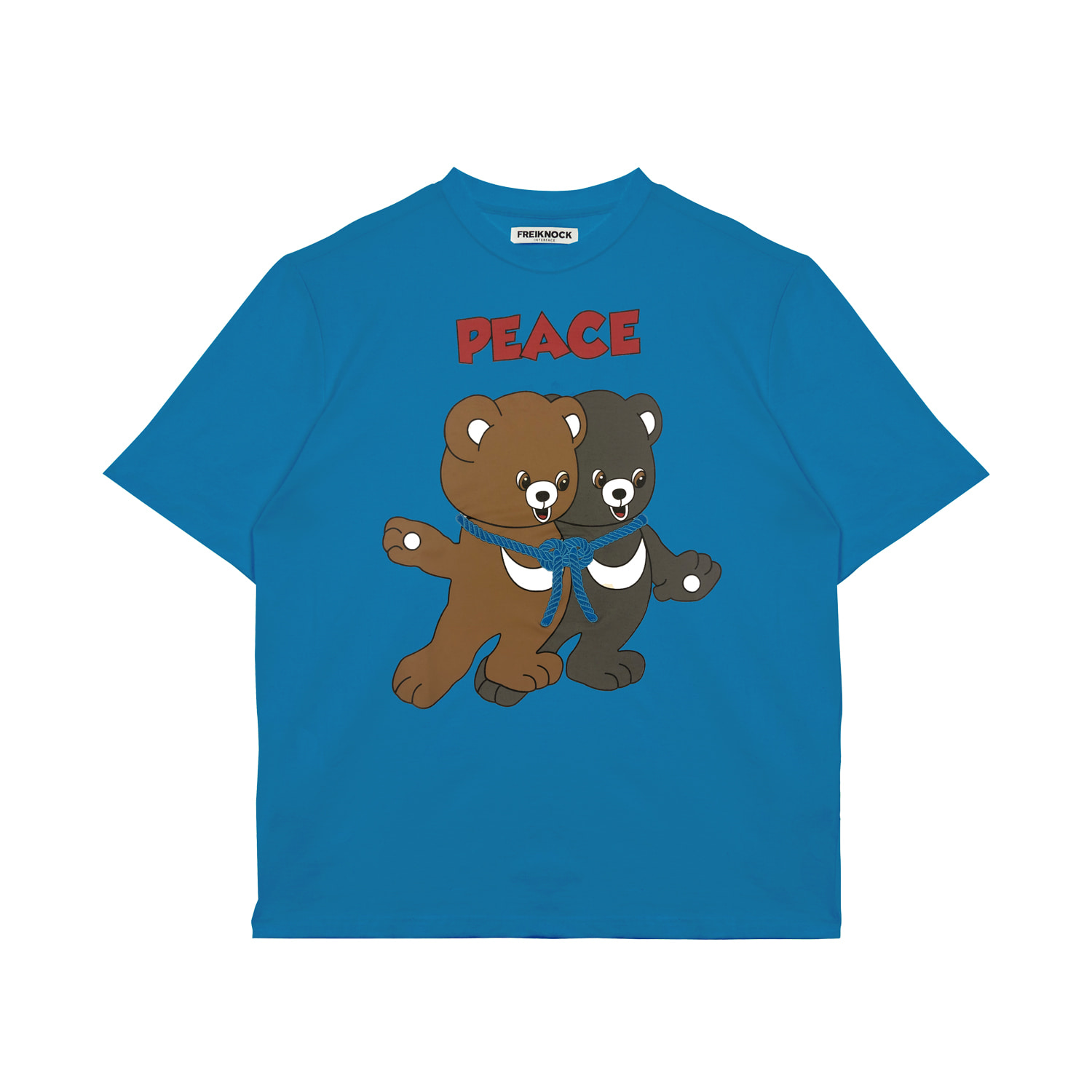 [40% OFF]PEACE BEAR T-SHIRT(SKY BLUE)