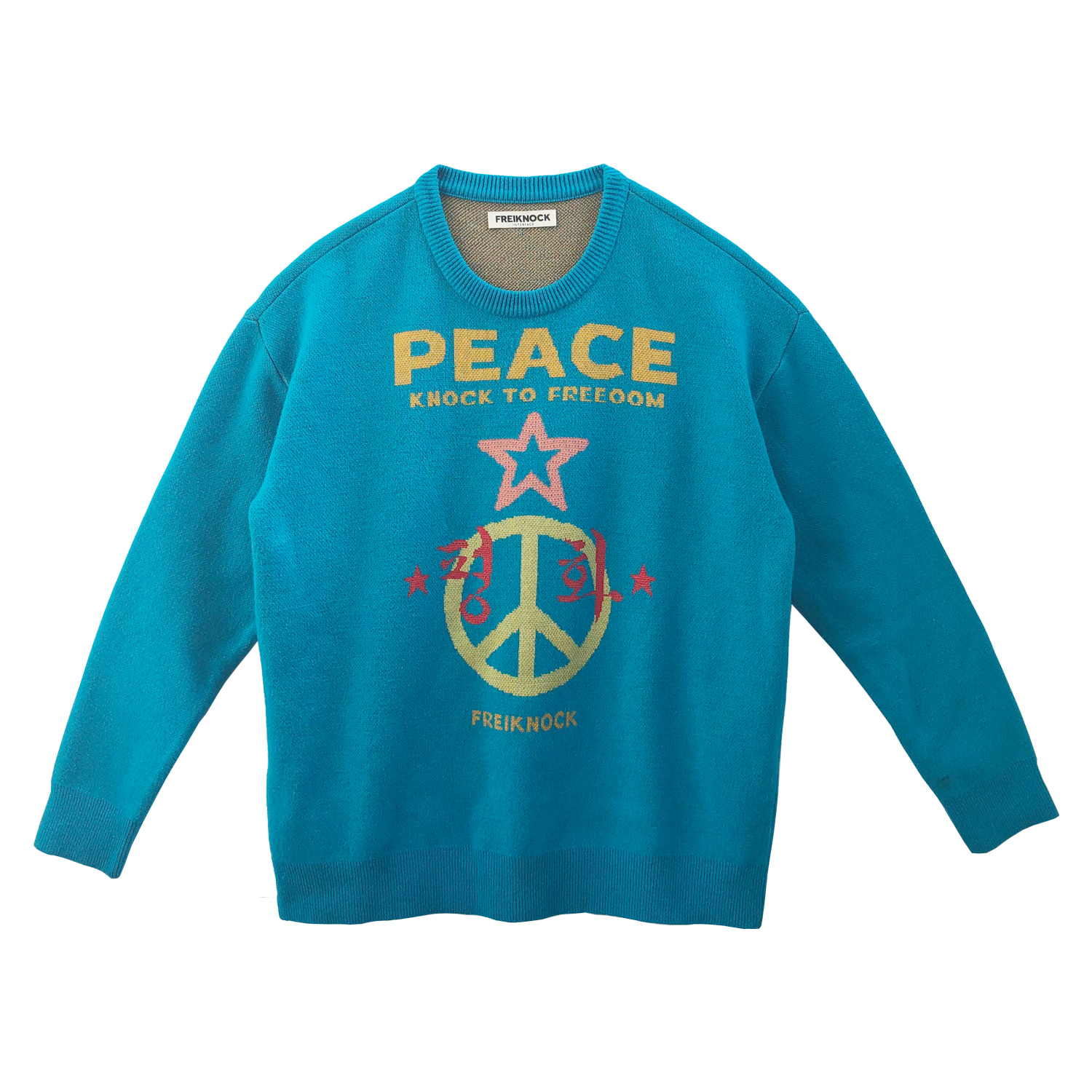 [60% OFF]PEACE SYMBOL KNIT PULLOVER