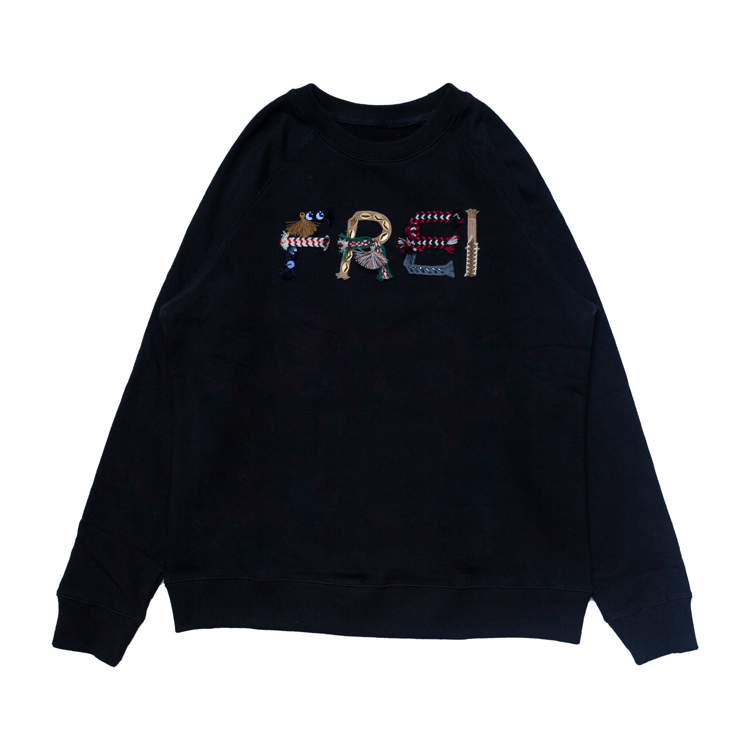 [90% OFF]TASSEL SWEATSHIRT(BLACK)