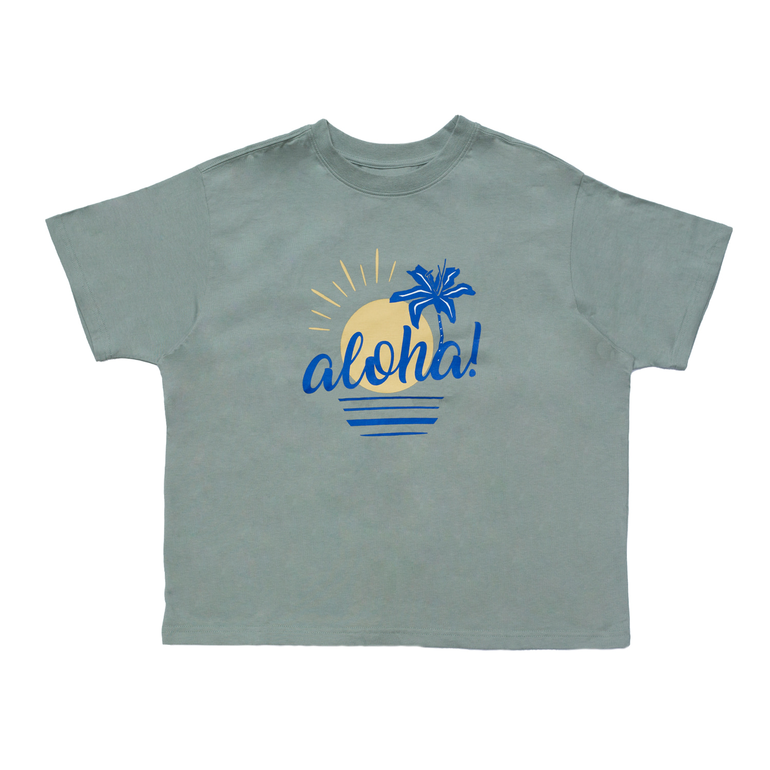 [70% OFF]ALOHA T-SHIRT(MINT)