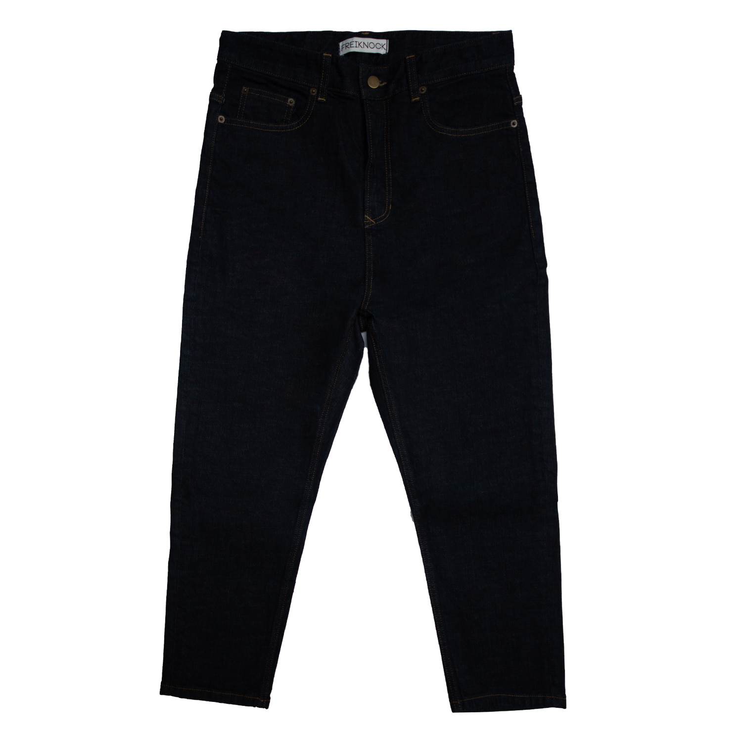 [90% OFF]CROPPED DENIM PANTS(NAVY)