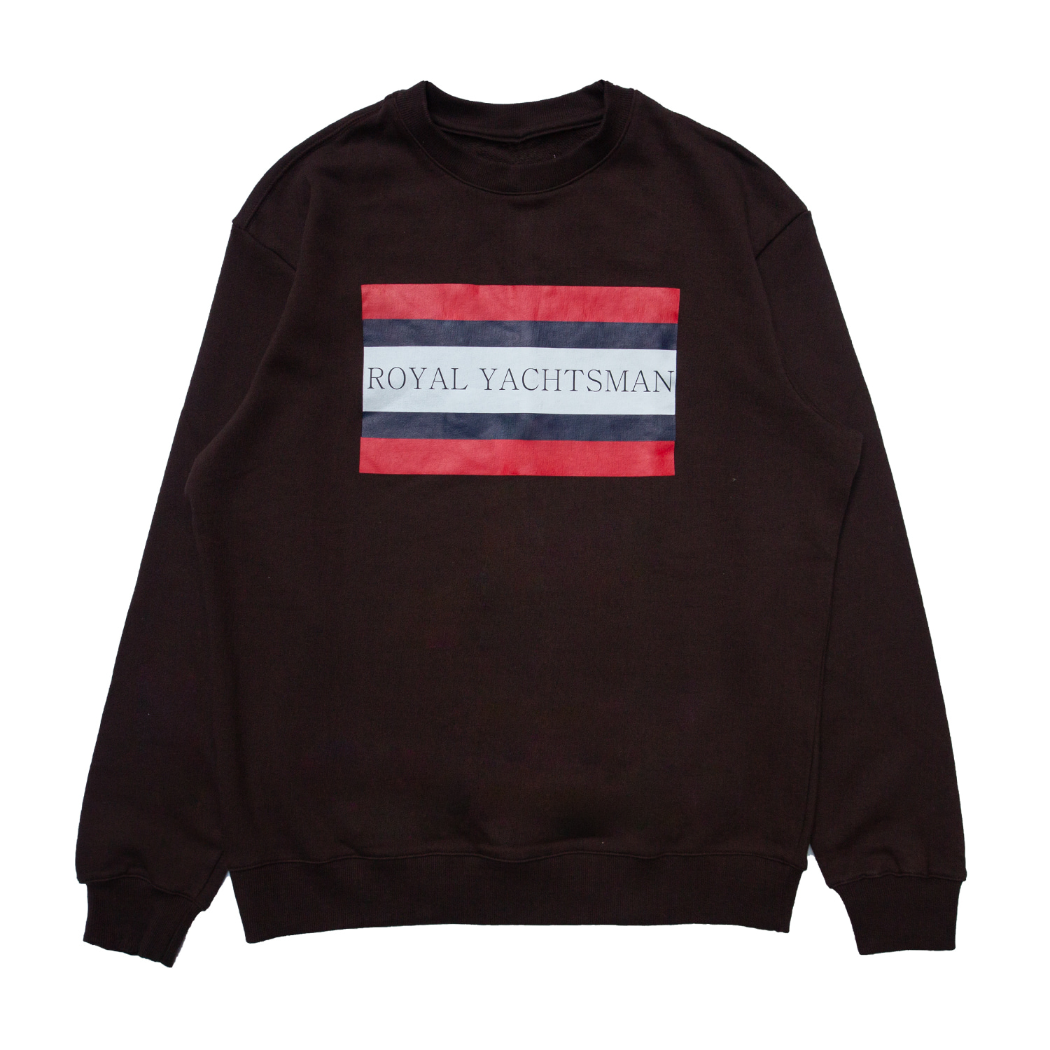 [85% OFF]ROYAL YACHTSMAN PRINTED SWEATSHIRT(BROWN)