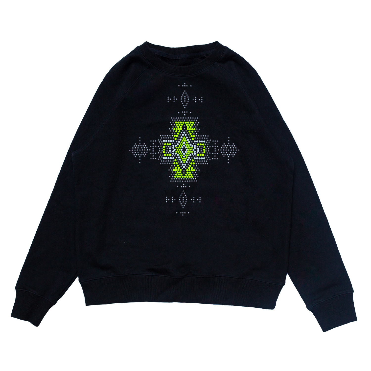 [87% OFF]BEADING SWEATSHIRT(BLACK)