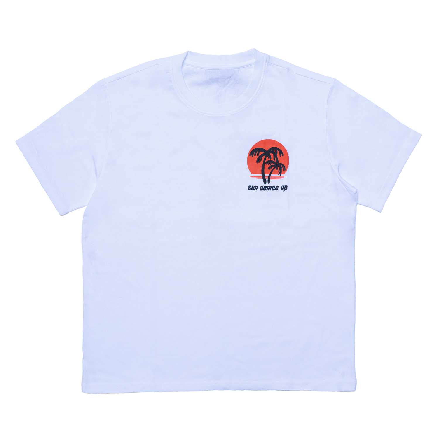 [70% OFF]SUNSET PRINTED T-SHIRT(WHITE)