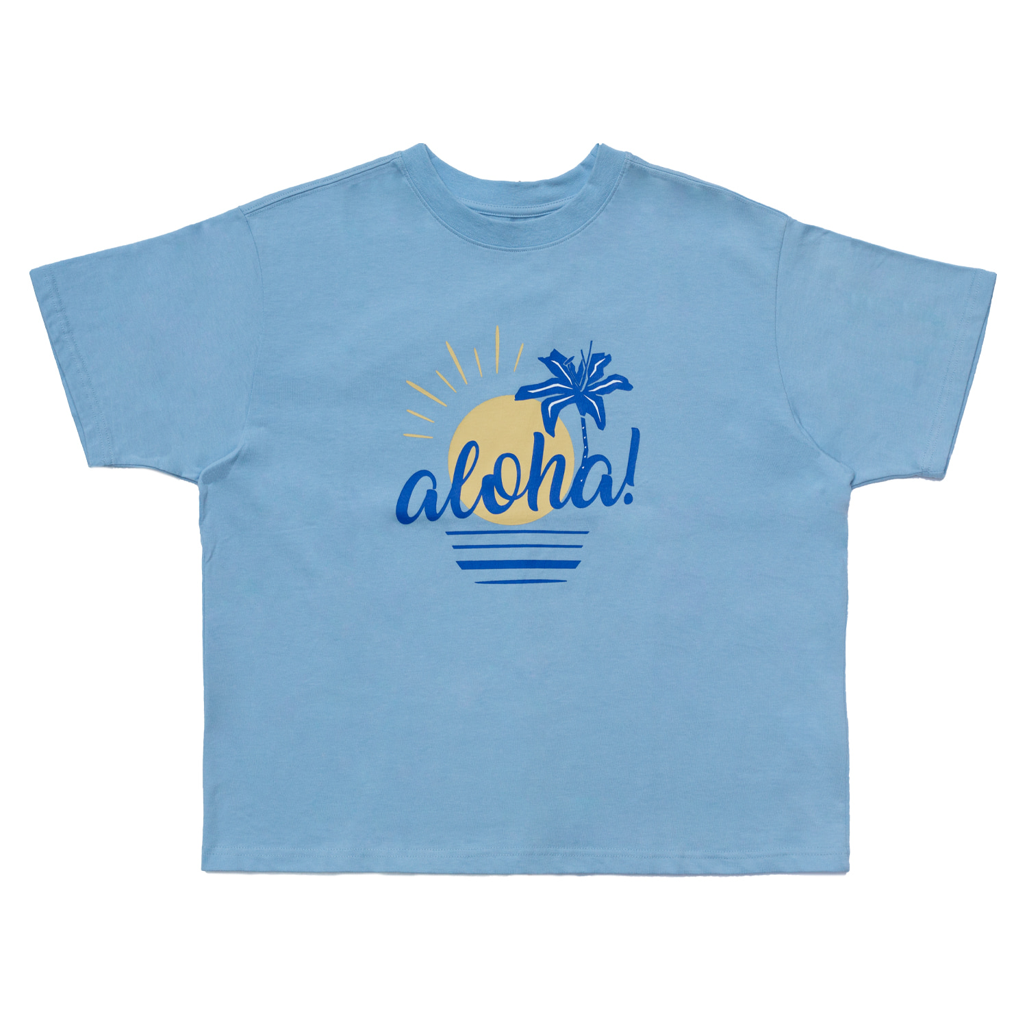 [70% OFF]ALOHA T-SHIRT(SKY BLUE)