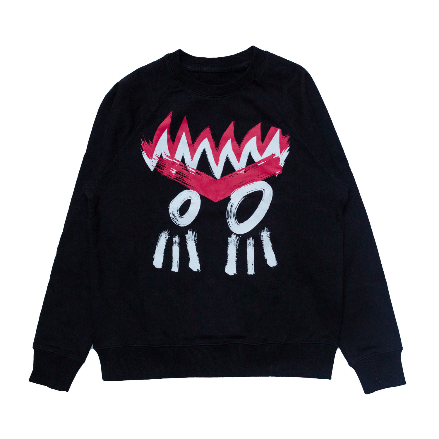 [87% OFF]INDIAN FACE SWEATSHIRT(BLACK)