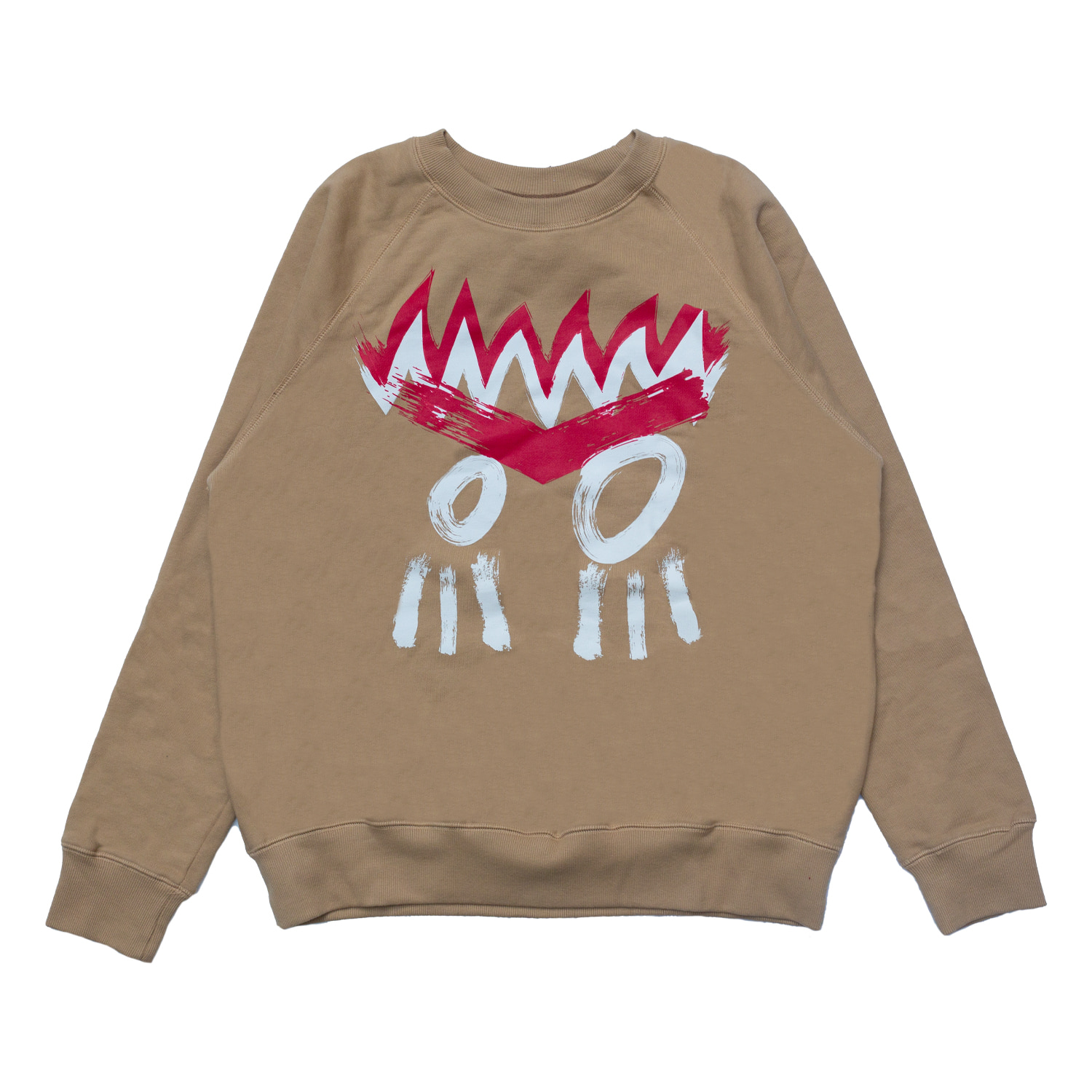 [87% OFF]INDIAN FACE SWEATSHIRT(BEIGE)