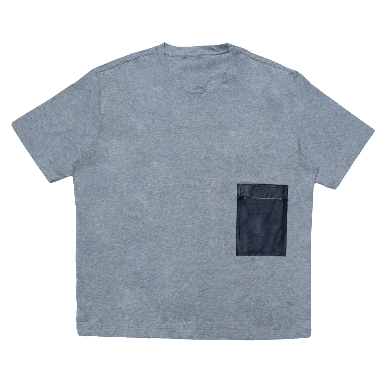 [87% OFF]LEATHER POCKET TSHIRT(GREY)
