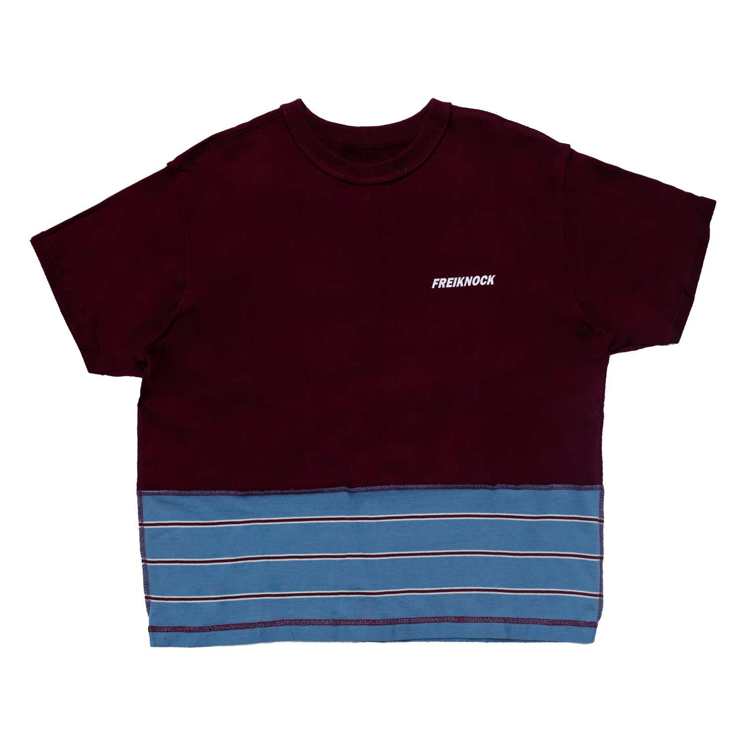 [83% OFF]INSIDE-OUT TSHIRT(BURGUNDY)