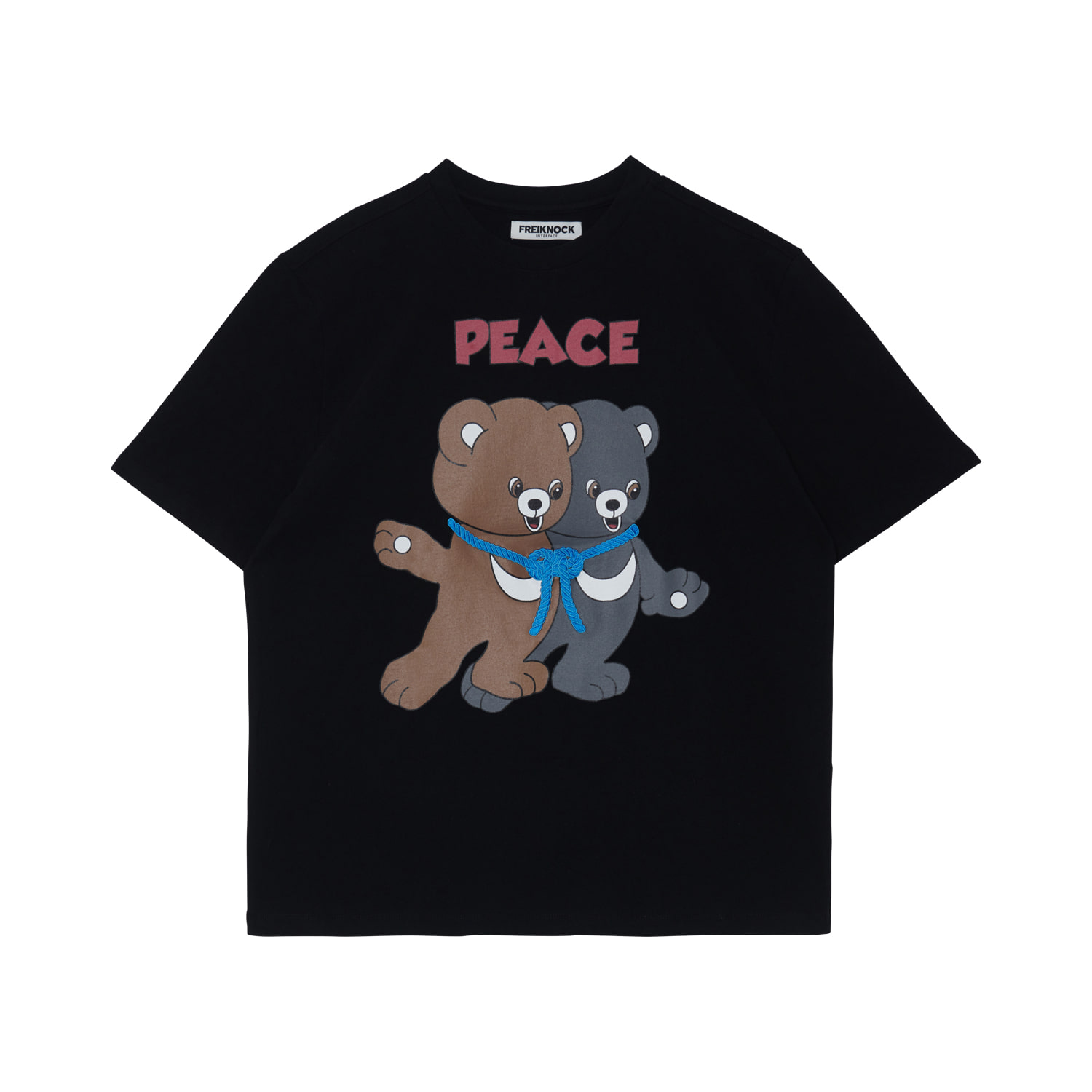 [30% OFF]PEACE BEAR T-SHIRT(BLACK)