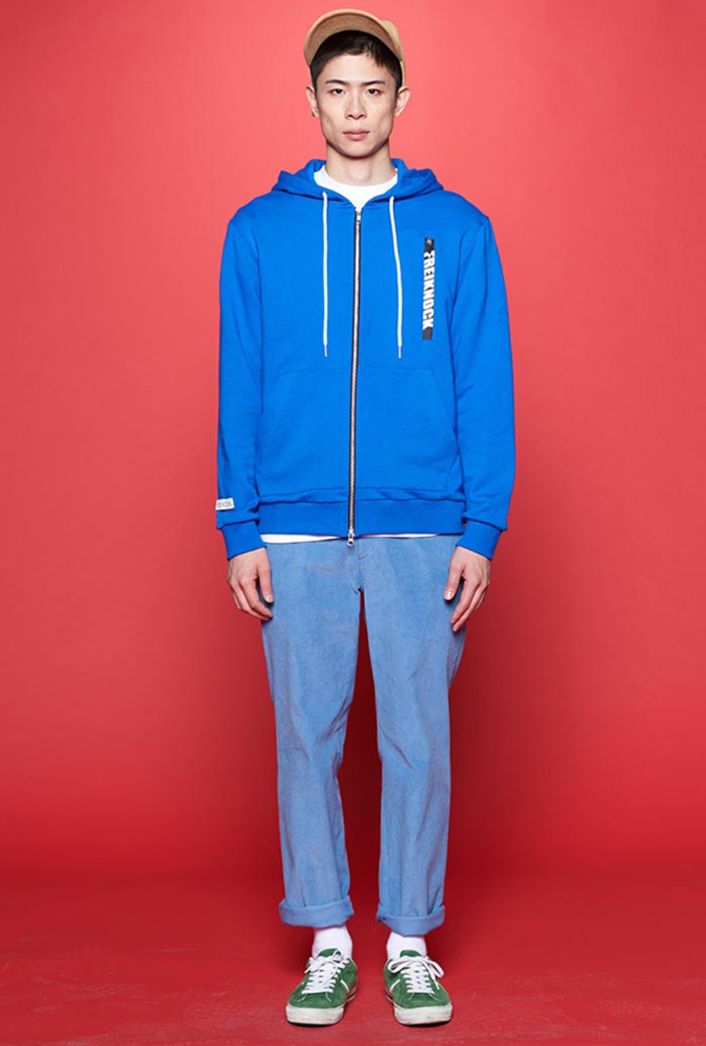 [80% OFF]LOGO ZIP-UP HOODIE(BLUE)